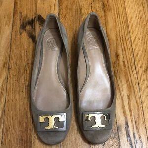 Tory Burch suede heels